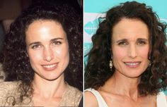 Actors of the then and now Celebrity Costumes, Celebrity Photos, Andie Macdowell, Celebrities Then And Now, Yearbook Photos, Hollywood, Forever Young, Venus, Movie Stars