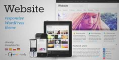 Download and review of Website - Responsive WordPress Theme, one of the best Themeforest Magazine & Blogs themes