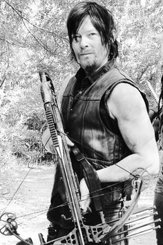 Daryl Dixon: dirty and sweaty as heck and still the most attractive guy on the show.