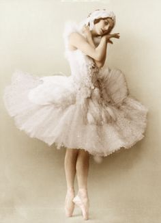 """Anna Pavlova - known as the original dancer for the piece created specifically in mind of her grace and delicacy; """"The Dying Swan"""". On her deathbed, her last words were: """"Get my swan costume ready""""."""