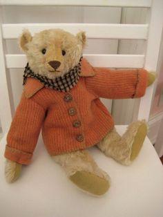 """Artist Bear by Pat Murphy Mohair Bear 12"""" Antique clothing OOAK #Murphy"""