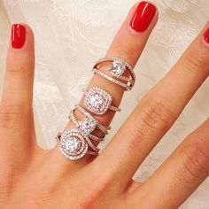 It's #engagement season, so naturally, we had to share these incredible @sylviecollection #engagementrings! Which one is your favorite?! #bling @lbg_pr