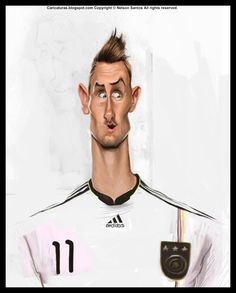 Caricatura de Miroslav Klose.