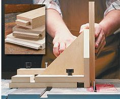 woodworking table saw jigs | Tenoning Jig - Build a Tenoning Jig for your Table Saw