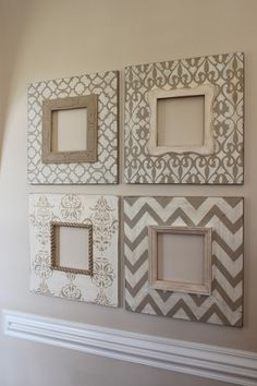 4 ideias para decorar com orçamento baixo! ** 4 ideas to decorate with low budget Wood Picture Frames, Picture On Wood, Wooden Frames, Painted Frames, Neutral Picture Frames, Photo Frame Ideas, Distressed Picture Frames, Timber Frames, Paper Frames