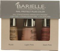 Barielle Nail Protect Plus Color Kit - 3 Pieces -- 1 Kit by Barielle. $30.00. Formulated with the unique ingredients Prosina, a Keratin Peptide.. Barielle Nail Protect Plus Color Kit - 3 Pieces -- 1 Kit. Helps nails become stronger and more break resistant ?. Formulated with the unique ingredients Prosina, a Keratin Peptide, which helps nails become stronger and more break resistant. This high viscosity formula will help provide a reinforced shield for maximum protection an...