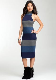 bebe | Striped Sleeveless Jersey Dress - View All