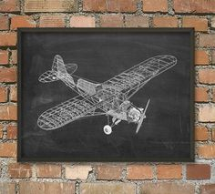 Aeroplane Diagram Wall Art Poster by QuantumPrints on Etsy