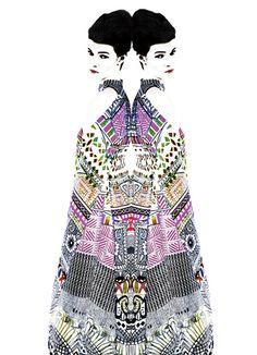 Wearable Art: Mary Katrantzou and Erik Madigan Heck For SS13