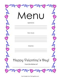 valentine's day menu pdf