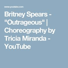 """Britney Spears -  """"Outrageous"""" 