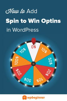 Do you want to add a spin to win optin to your website or WooCommerce store? Learn how to add a spin to win optin in WordPress or WooCommerce. Games To Win, Game Ui, Wordpress Plugins, Blogging For Beginners, Spinning, Banner, Ads, Website, Learning