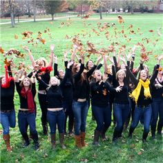 Cute fall photo idea from our friends at Chi Omega!  Erin, I had to pin this one!!!  Be a Chi O!!  Love you!!