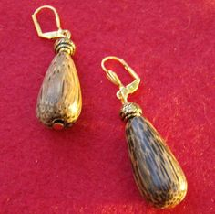 Wooden Bead Earrings  Simply Stunning Handmade by JewelryArtistry
