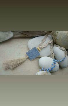 Sutton slice pendant,lace and beads Beaded Bracelets, Beads, Pendant, Lace, Jewelry, Fashion, Beading, Moda, Jewlery