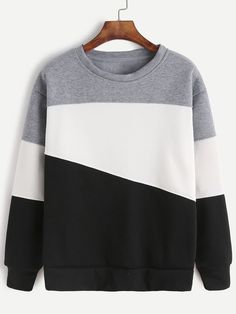 Romwe Color Block SweatshirtL