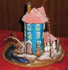 Muumitalo piparkakkutaikinasta Gingerbread, Cookies, Cake, Desserts, Food, Crack Crackers, Tailgate Desserts, Deserts, Ginger Beard