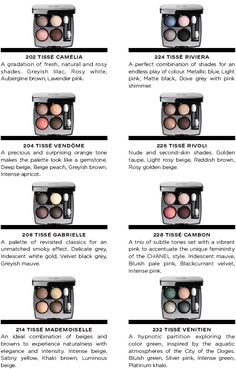 CHANEL Les 4 Ombres 2014 collection (new formula, each inspired by Chanel tweed)