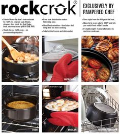 POST 6: ROCKCROK The HOTTEST product to hit The Pampered Chef catalog, the market and your kitchen in YEARS! The Rockcrok® is the most versatile piece of cookware you will ever own! Exclusive to Pampered Chef, this vessel goes in the oven, on your stove top, under the broiler, in the microwave, on the BBQ Grill, and then into the dishwasher! https://www.youtube.com/watch?v=Al19kGaBLMQ