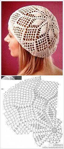 Kira crochet: Scheme no. 46 Kira crochet: Scheme no. Bonnet Crochet, Crochet Cap, Crochet Diagram, Crochet Beanie, Crochet Scarves, Crochet Doilies, Crochet Clothes, Crochet Stitches, Knitted Hats