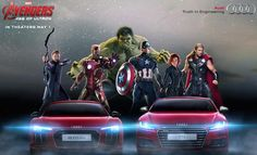 The Avengers love Audis. Who knew?