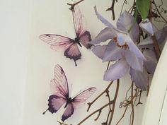 3 Luxus erstaunliche Flug Schmetterlinge 3D Schmetterling Wand