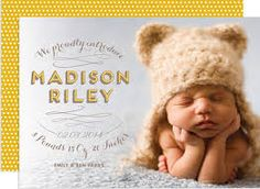 Madison Riley Birth Announcement from lovevsdesign - adorable! Baby Announcement Cards, Birth Announcements, Madison Riley, March Baby, Baby Momma, Baby Portraits, Cute Photos, Newborn Photos, Baby Pictures