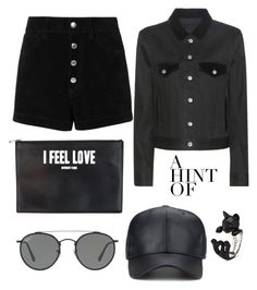 """""""Black!"""" by gatocat ❤ liked on Polyvore featuring Acne Studios, rag & bone/JEAN, Givenchy and Ray-Ban"""