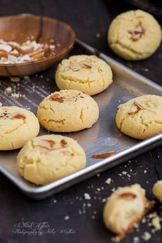 NanKhatai Recipe, How to make NanKhatai or Crunchy Indian Shortbread Cookies Nan Khatai, authentic Indian cookies can be made at home. Everyone would love the personal touch. Make for festivals or everyday with this Nan Khatai Recipe Indian Dessert Recipes, Indian Sweets, Indian Snacks, Sweets Recipes, Baking Recipes, Cookie Recipes, Snack Recipes, Home Made Cookies Recipe, Indian Recipes