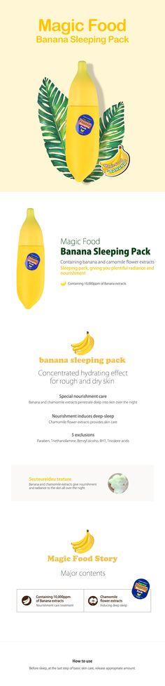 Tonymoly Magic Food Banana Sleeping Pack 85ml + Banana Hand Milk 45ml - Tonymoly Beautynetkorea Korean cosmetic