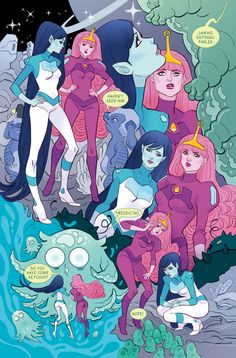 Daily Candies for Eyes — Marceline and Bubblegum in spaaaace ! 70' styled...