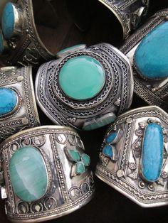 Turquoise tribal jewelry