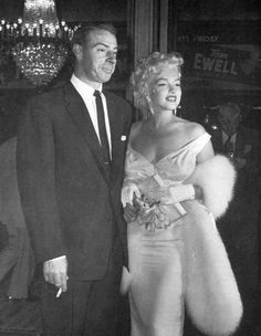 Marilyn Monroe and Joe DiMaggio ~ June 1955 New York at the Premiere of The Seven Year Itch