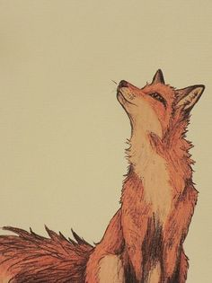 fox with lotus flower - Google Search