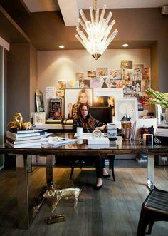 Jennifer Fisher's glam office