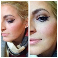 Make up with gold-brown colours