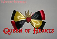 Queen of Hearts Disney Bow