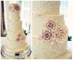 Delicate Lace wedding cake
