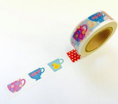 Coffee Tea Mug Cups  Paper Washi Tape Scrapbooking Decoration Sticker - Planner Accessories (1022)