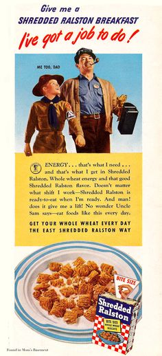 shredded ralston cereal 1943