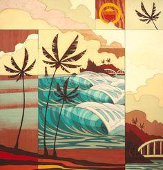 Art Portfolio: Browse through over 600 works of art by Oregon artist Erik Abel. Ocean Art, Animal Art, Tiki faces, Works on paper, Surf Art and digital illustrations. Original Paintings, Original Art, Art Paintings, Surf Design, Hawaiian Art, Art Sculpture, Tropical Art, Surf Art, Art Graphique