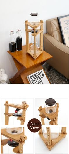 Triangle Water Drip Dutch makers Iced Brew Cold Coffee Ratio Machine