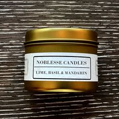 Lime, Basil & Mandarin Scented Travel Candle