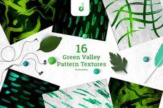Green Valley Pattern Textures  @creativework247