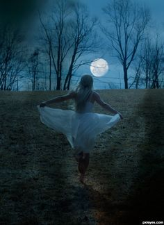 """The moon is a friend for the lonesome to talk to."" -Carl Sandburg  [The moon was my best friend in my teenage years. I used to dance for the moon.]"
