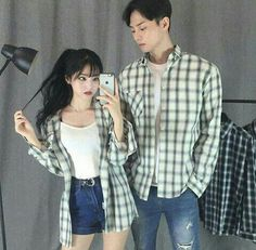 Matching Couple Outfits, Matching Couples, Cute Couples, Mode Ulzzang, Ulzzang Girl, Kpop Outfits, Fashion Outfits, Simple Outfits, Cute Outfits