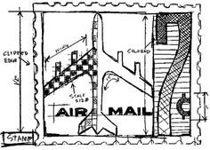 Tim Holtz Rubber Stamp AIRMAIL SKETCH Stampers Anonymous U1-2079