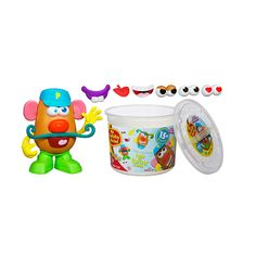 Create a funny face, grab a nose and a mouth, and never stop laughing with the Playskool Mr. Potato Head Tater Tub! The more mixed up the combinations with the nose, ears, mouth and other silly features in this set, the more fun your little one will have. You know he's learning body parts and facial expressions, but he'll just think he's being silly and sharing giggles!<br><br>The Playskool Mr. Potato Head Tater Tub contains 1 potato body, feet, 4 pairs of eyes, nose, 2 ears, 3 mouths…