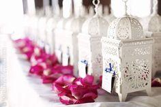 Decoración de bodas con faroles www.webnovias.com/blog