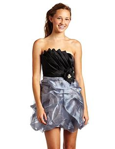Trixxi Juniors Organza Pick Up Dress BlackGrey 5 -- Check this awesome product by going to the link at the image. Note: It's an affiliate link to Amazon.